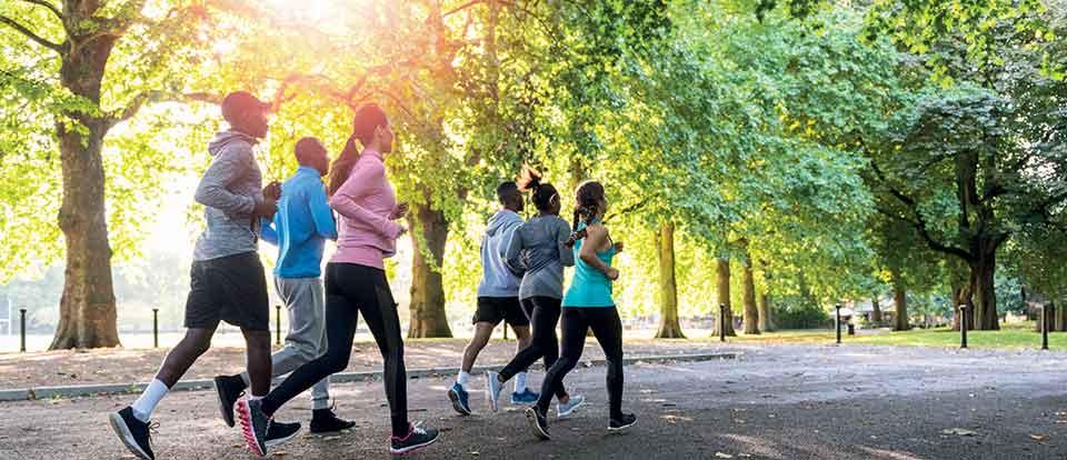jogging ambiance
